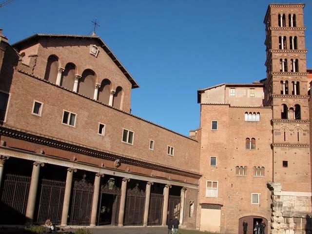 San Mauro Abate Itinerari religiosi a Roma Santa Maria in Domnica Navicella  SantiGiovanni