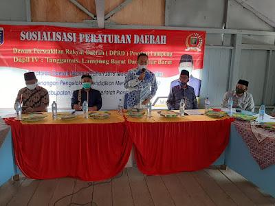 Joko Santoso Sosialisasikan Perda Prov. Lampung Nomor 9 Tahun 2016