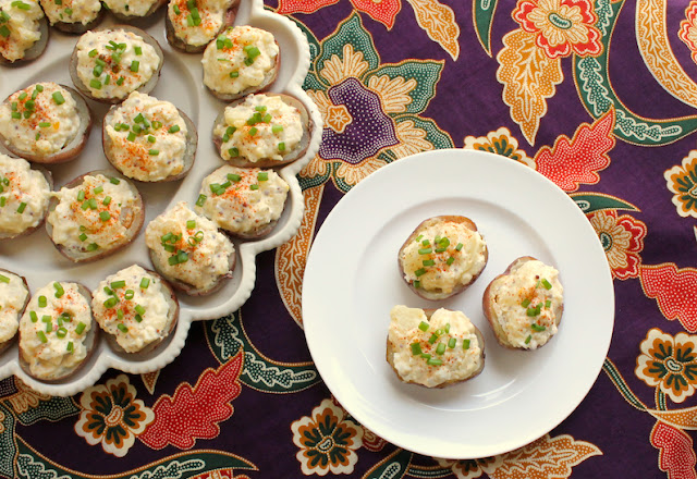 Food Lust People Love: These Potato Salad Bites combine my favorite baked potato skins with my beloved potato salad recipe. They are perfect for your picnics or parties.
