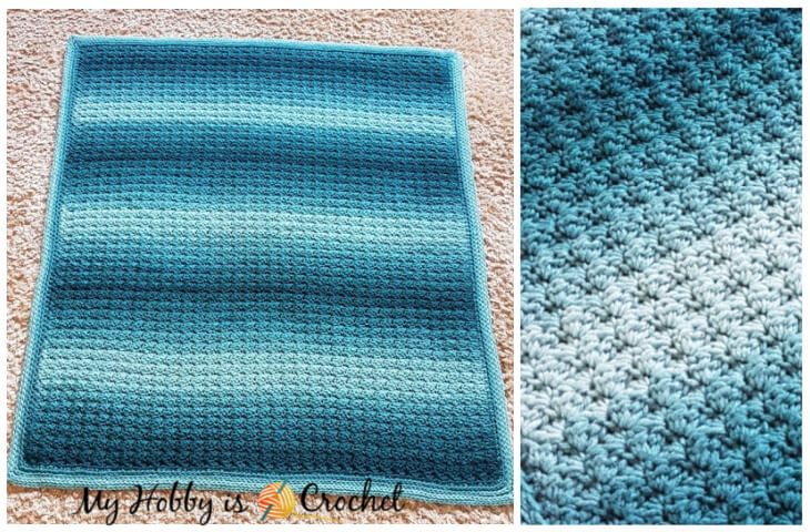 Fabian's Ombré Baby Blanket - Free Crochet Pattern