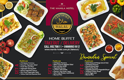 The Manila Hotel Café Ilang-Ilang offers  halal-certified food for Takeout and Delivery
