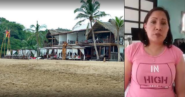 Periodista denuncia que personal de hotel en Zipolite, Oaxaca la drogó y abuso de ella.