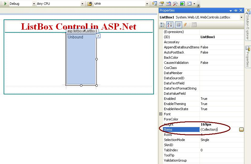 LISTBOX CONTROL IN ASP.NET
