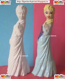 figurine ipsos gips elsa frozen de pictat