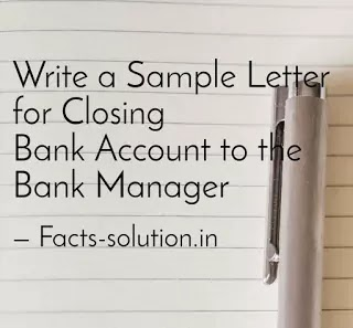 Application for Bank Account Closure