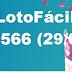 Resultado Lotofácil Concurso 1566 (29/09/2017)