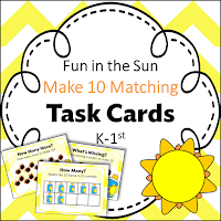 Fun in the Sun- Make 10 Matching