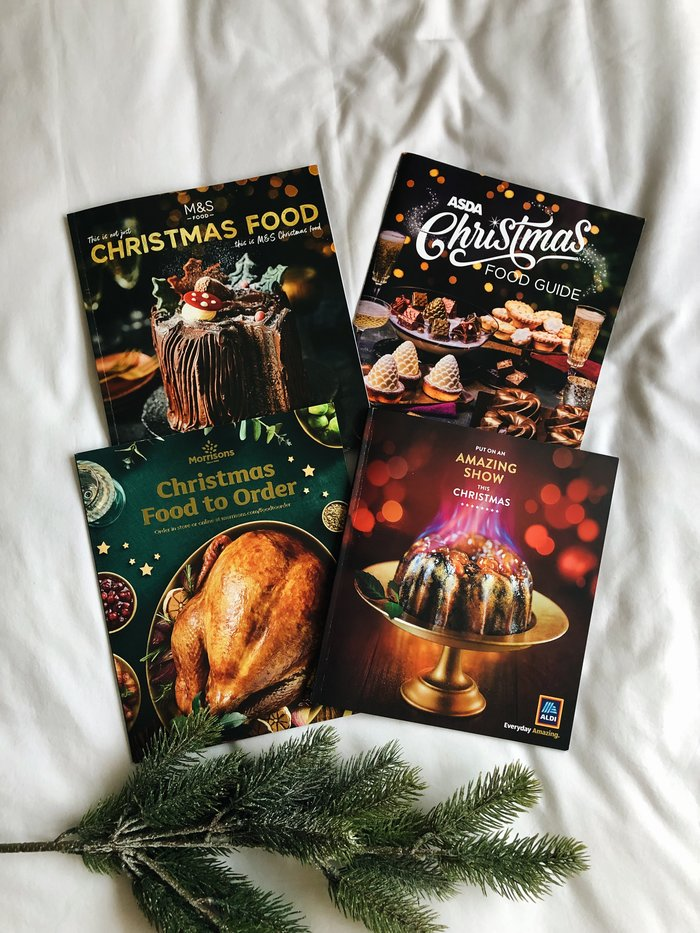 The Best of the Christmas Food Catalogues 2019 featuring Aldi, Tesco, M&S and Asda.