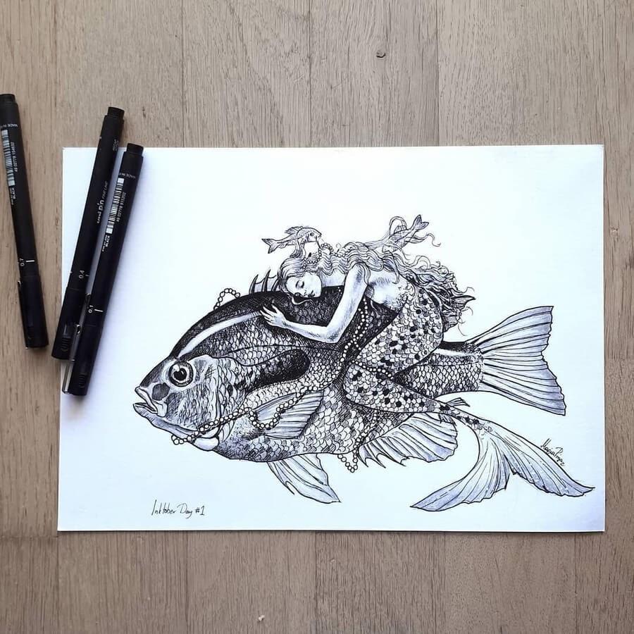 07-The-Mermaid-and-the-fish-Maria-Riga-www-designstack-co