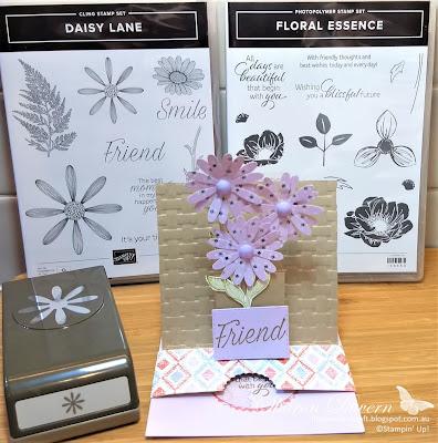 Purple Posy, Daisy Lane, Floral , fancy fold, Rhapsodyincraft, Colour Creations, Art With heart