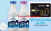Logo Vinci con Parmalat: con Colazione Plus vinci 48 Gift Card Carrefour da 50€! Anticipazione