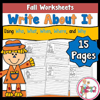 Fall Write About It Worksheets