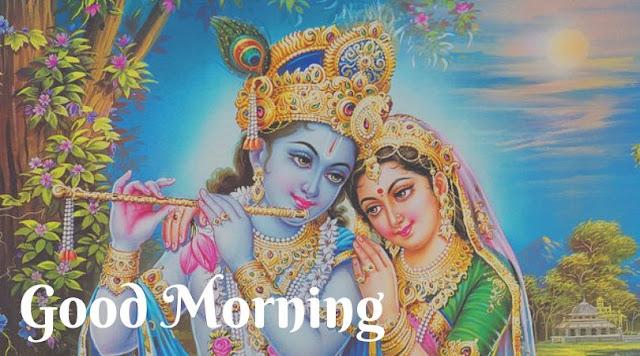 radha krishna love good morning images