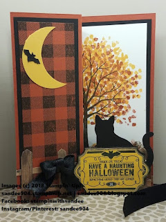 You can make this super cute Halloween card featuring the Sheltering Tree stamp set and the Cat Punch by Stampin' Up!  #stampinup30