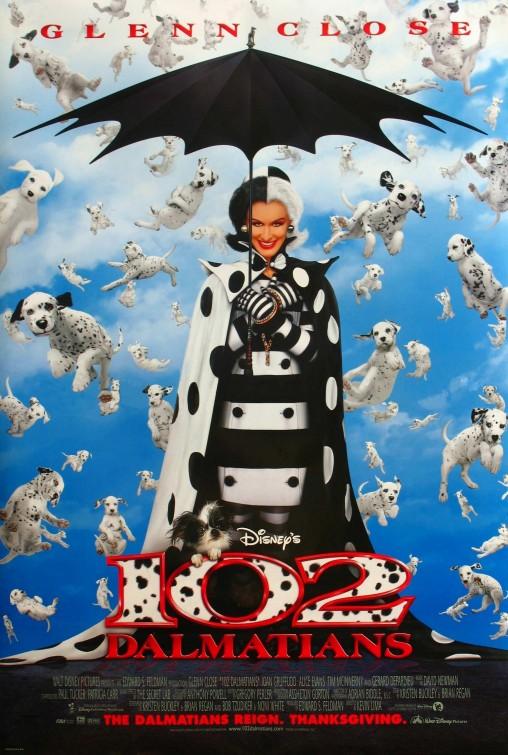 102 Dalmatians movie poster