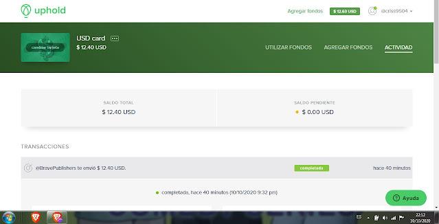 Nuevo pago Recibido Hoy 10 de octubre 2020