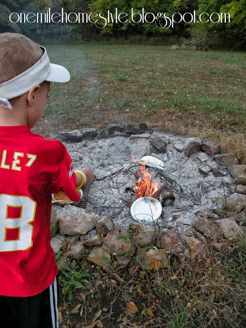 Big Brother Toasting His Marshmallows