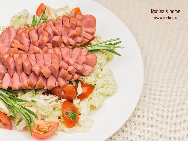 Сосиски-шишки: пошаговый рецепт