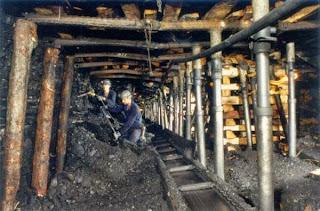 Mineros de carbón.