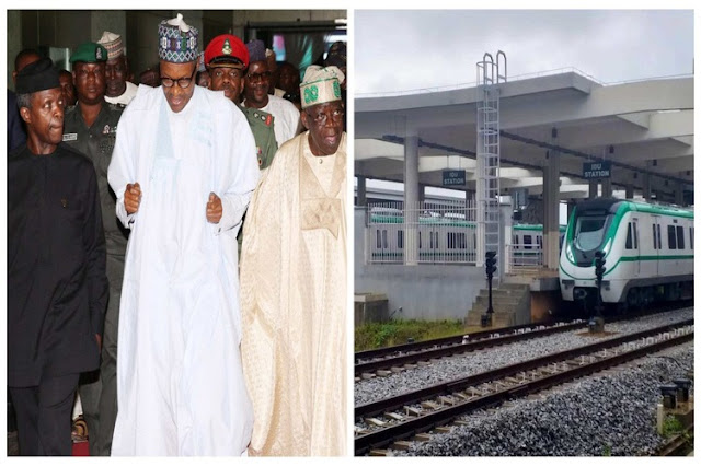President Buhari names train stations after Osinbajo, Tinubu, Fashola