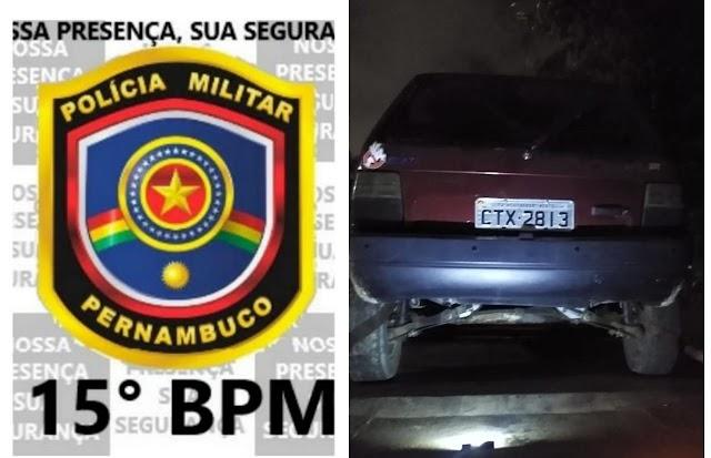 Homem é detido pela PM por diversos furtos e roubos na cidade de cachoeirinha, PE