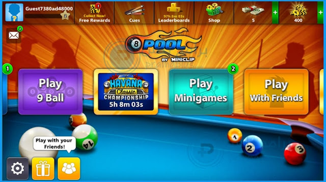 أوضاع لعب لعبة بلياردو 8ball pool