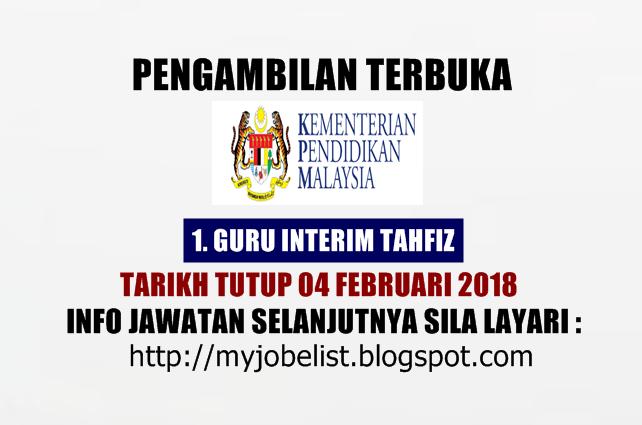 Jawatan Kosong Kementerian Pendidikan Malaysia Kpm 04 Februari 2018 Nak Info Jauh