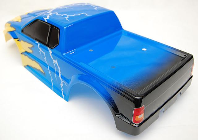 Tamiya TXT-1 pre-painted body lightning paint job