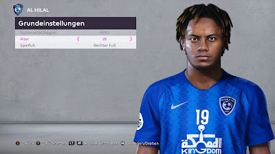 PES 2020 Faces André Carrillo by Modo
