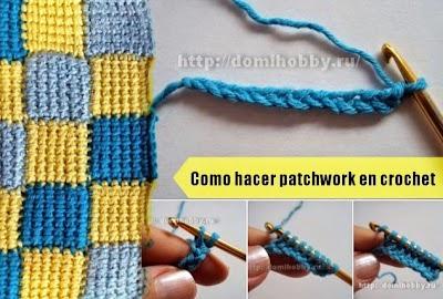 Como hacer Patchwork en Crochet