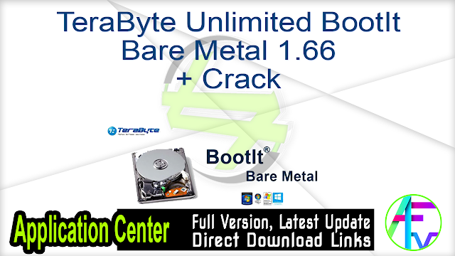 TeraByte Unlimited BootIt Bare Metal 1.66 + Crack