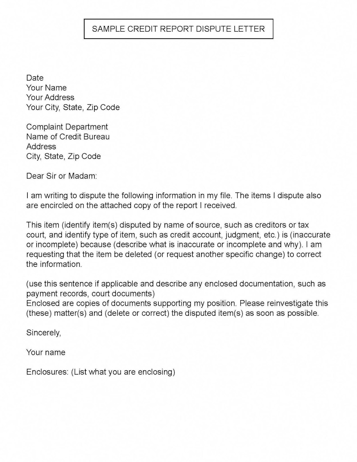 experian dispute letter template  resignation letter