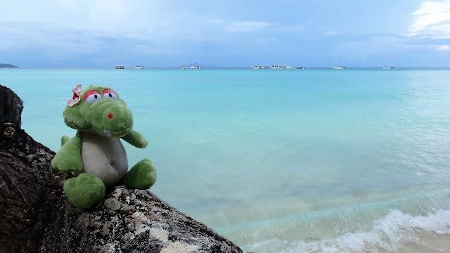 Lana Bay Phi Phi Island mit Bella dem Krokodil