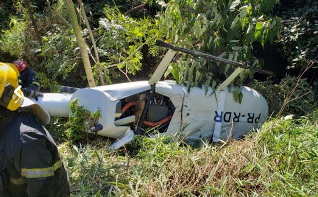 Helicóptero cai no bairro Olhos D´Água, na região Oeste de Belo Horizonte