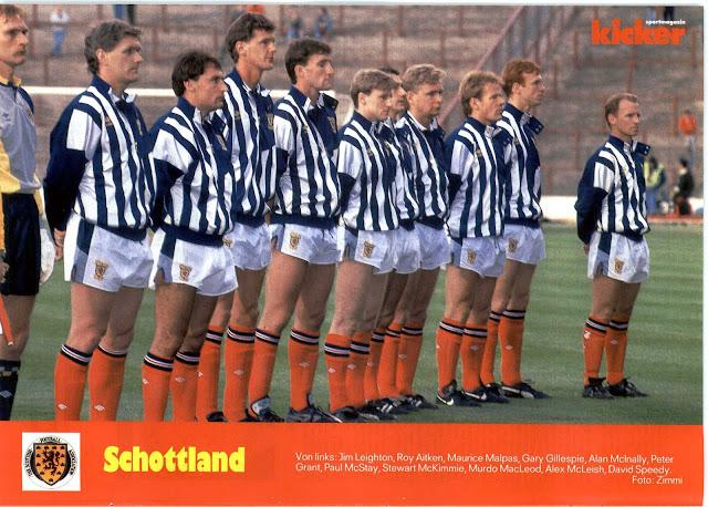 Formación de Escocia ante Chile en Rous Cup, 30 de mayo de 1989