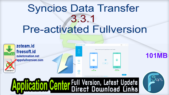 Syncios Data Transfer 3.3.1 Pre-activated Fullversion