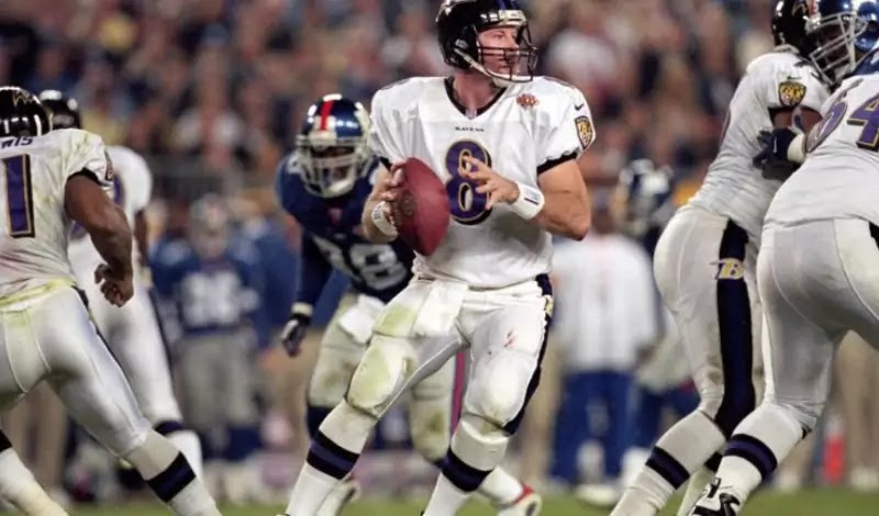 In the 2000 season, Dilfer replaced Tony Banks and led the Ravens to Super Bowl XXXV, where they won against the Giants