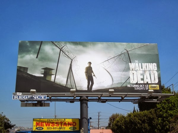 Walking Dead series 4 billboard