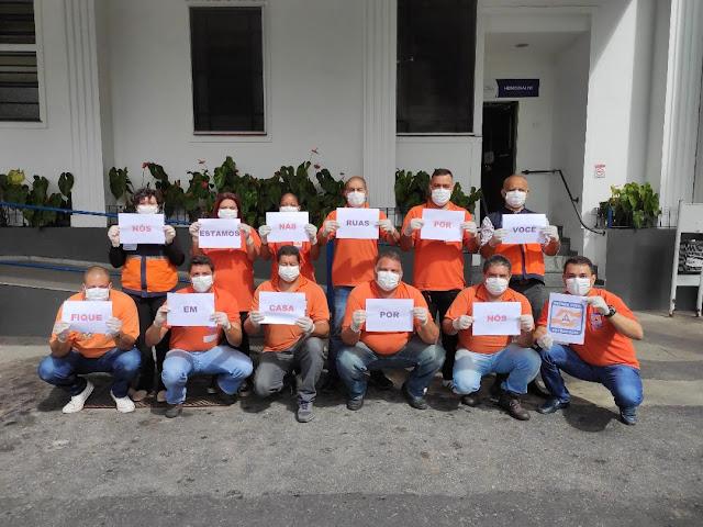 Defesa Civil de Petrópolis faz campanha para as pessoas ficarem em casa