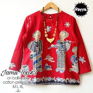 Blouse Batik Jamu Top3 Katun Primissima