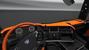Dark Orange interior fo Scania