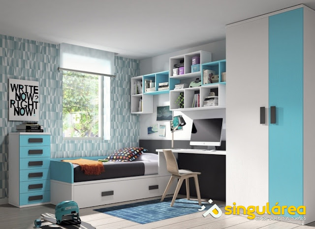 Dormitorio infantil con cama nido 1456 - Dormitorios infantiles valencia ...