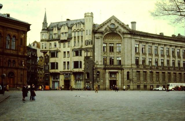 1980-е годы. Рига. Площадь 17 июня. Городские пейзажи.