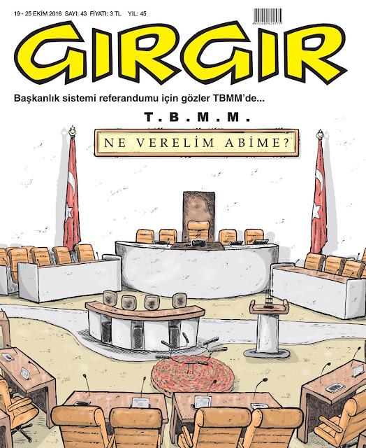 Gırgır Dergisi | 19-25 Ekim 2016 Kapak Karikatürü