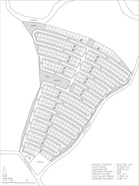 site plan Tanah Kavling Perumahan