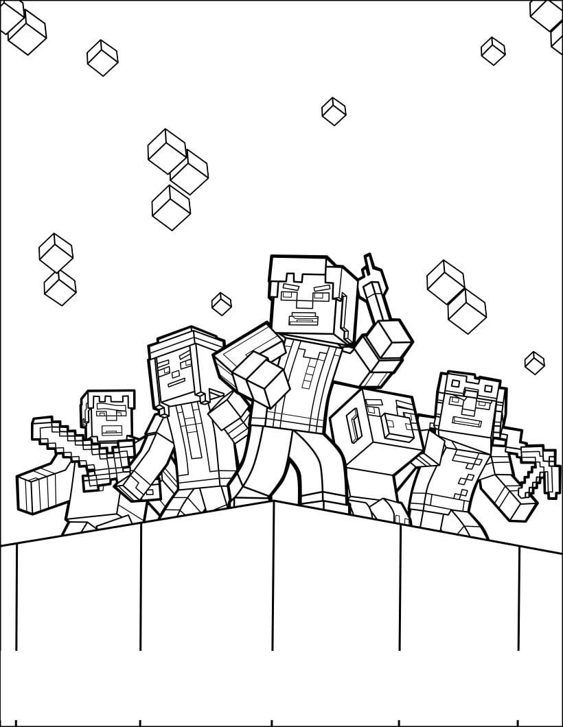 Lego City Kids Desenhos Do Minecraft Para Colorir