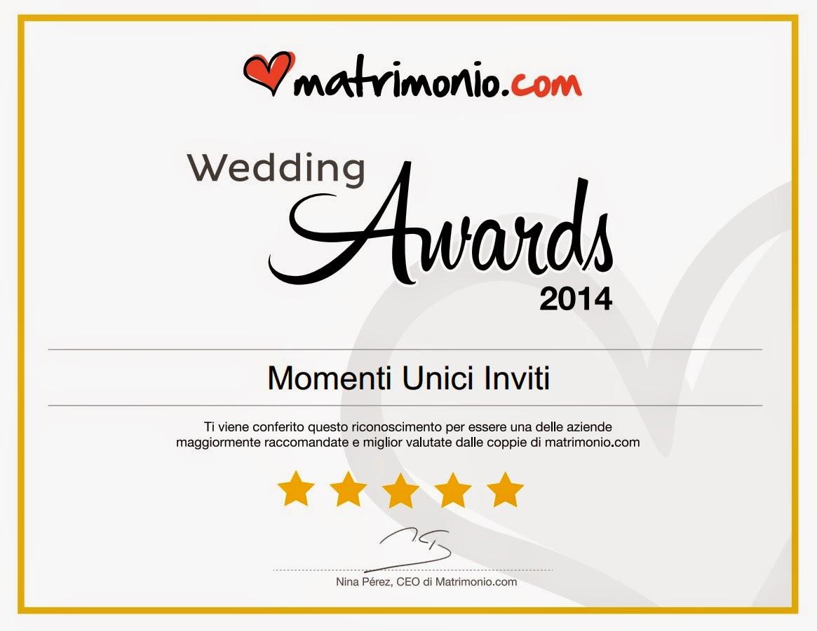 wa Momenti Unici Inviti vincitore del Wedding Awards conferito dal prestigioso portale wedding Matrimonio.comUncategorized