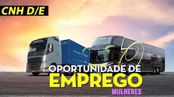 Princesa dos Campos abre vagas para motorista carreteiro
