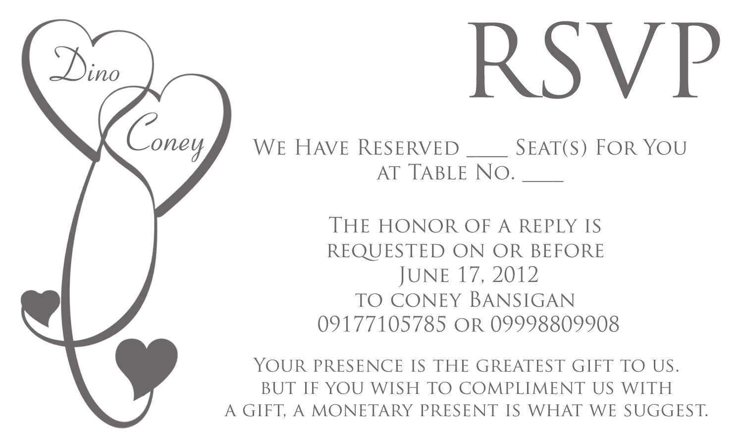 Wedding Invitation Wording For Monetary Gifts: Monetary Gifts Preferred Wording For Baptism
