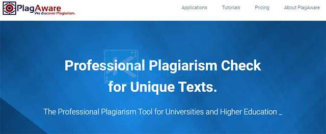 PlagAware adalah mesin pencari profesional untuk mengecek plagiarisme secara gratis dan telah digunakan bahkan lebih dari 10 tahun oleh puluhan universitas, sekolah, bisnis, dan pengguna pribadi.